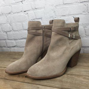 NWOT Alex Marie Tan Suede Ankle boots